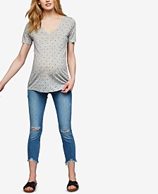 Paige Denim Maternity Distressed Skinny Jeans