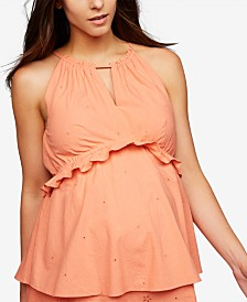 A Pea In The Pod Maternity Sleeveless Babydoll Blouse