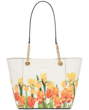 HAYDEN LEATHER CHAIN STRAP LARGE TOTE