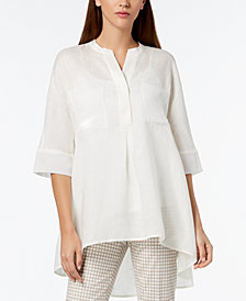 Anne Klein Split-Neck High-Low Tunic