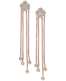 Pavé Rose by EFFY® Diamond Dangle Drop Earrings (1/3 ct. t.w.) in 14k Rose Gold