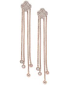 Pavé Rose by EFFY® Diamond Dangle Drop Earrings (1/3 ct. t.w.) in 14k Rose Gold