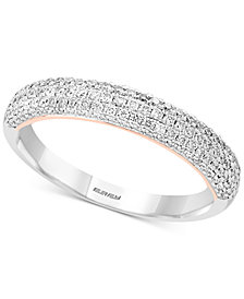 Pavé Classica by EFFY® Diamond Pavé Band (1/2 ct. t.w.) in 14k White & Rose Gold