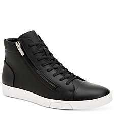 Calvin Klein Men's Berke Leather High-Top Sneakers