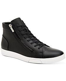 Calvin Klein Men's Berke Leather High-Top Sneakers