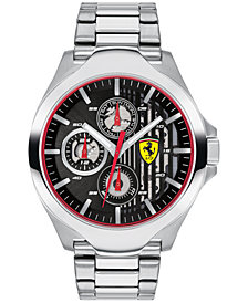 Ferrari Men's Chronograph Aero Stainless Steel Bracelet Watch 44mm