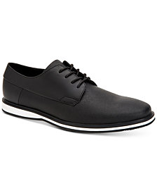 Calvin Klein Men's Wilfred Saffiano Leather Oxfords
