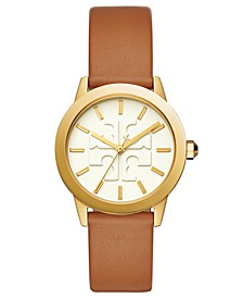 Women's Gigi Luggage Leather Strap Watch 36mm