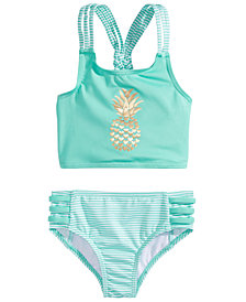 Penelope Mack 2-Pc. Striped Pineapple Bikini, Toddler Girls