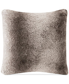 "Madison Park Signature Serengeti 20"" Square Faux-Fur Decorative Pillow"