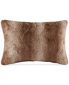 """Madison Park Zuri Faux-Fur 14"""" x 20"""" Oblong Decorative Pillow"""