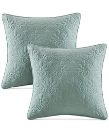 """Quebec 20"""" x 20"""" Quilted Decorative Pillow 2-Pack"""