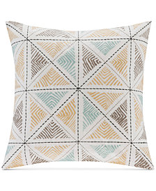 "INK+IVY Zelda 18"" Square Geometric Embroidered Decorative Pillow"