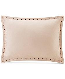 "Madison Park Alban Faux-Suede 14"" x 20"" Studded Oblong Decorative Pillow"