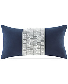 "Natori Nara 10"" x 20"" Embroidered Decorative Pillow"