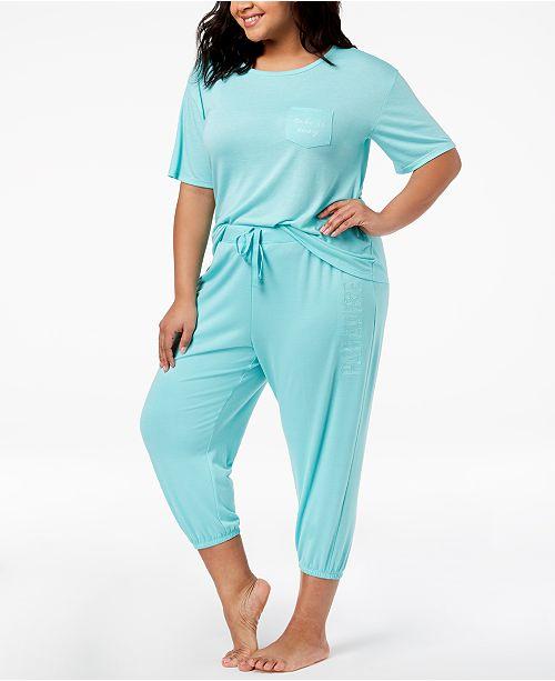 cf313fc5e2617 Jenni. by Jennifer Moore Plus Size Pocket Pajama Top   Jogger Pajama Pants