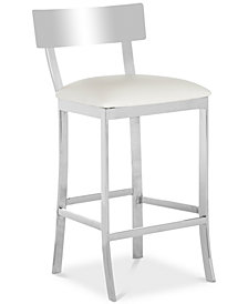 Sidonia Faux Leather Counter Stool, Quick Ship