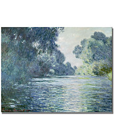 "Claude Monet 'Branch of the Seine Near Giverny' 35"" x 47"" Canvas Wall Art"