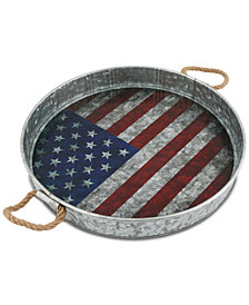 CLOSEOUT! Thirstystone Flag Galvanized Tray