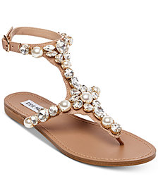 Steve Madden Women's Chantel Embellished Flat Sandals