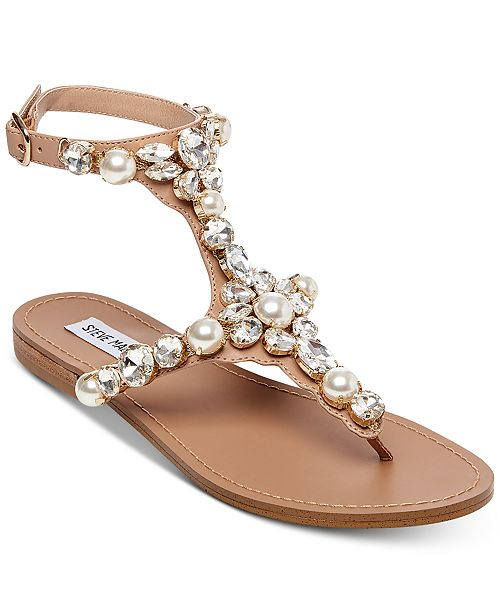 3389e9e5237e73 Steve Madden Women s Chantel Embellished Flat Sandals   Reviews ...