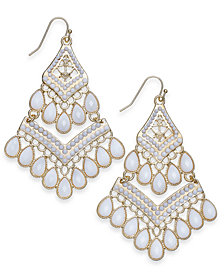 I.N.C. Gold-Tone Bead Tassel Drop Earrings, Created for Macy's
