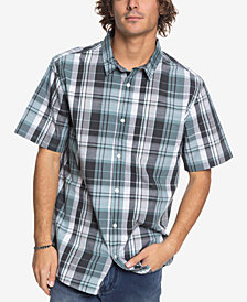 Quiksilver Men's Sun Rhythm II Plaid Pocket Shirt