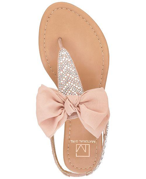 3ed56ed39b7 ... Material Girl Swan Flat Thong Sandals