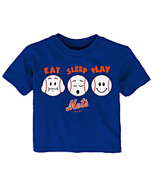 Outerstuff New York Mets Eat, Sleep, Play T-Shirt, Toddler Boys (2T-4T)