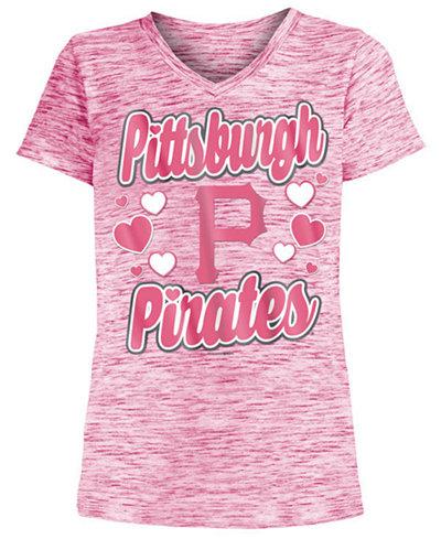 5th & Ocean Pittsburgh Pirate Spacedye T-Shirt, Girls (4-16)
