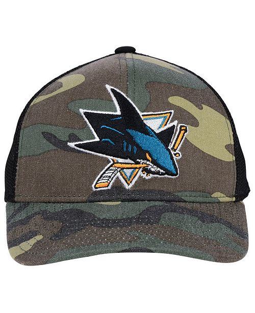 official photos 7791a 0d94d ... adidas San Jose Sharks Camo Trucker Cap ...