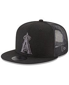 New Era Los Angeles Angels Blackout Mesh 9FIFTY Snapback Cap