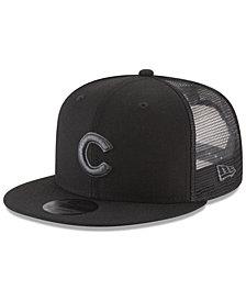 New Era Chicago Cubs Blackout Mesh 9FIFTY Snapback Cap