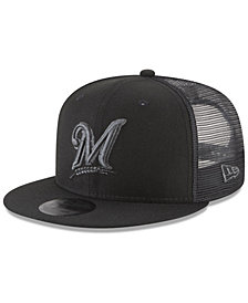 New Era Milwaukee Brewers Blackout Mesh 9FIFTY Snapback Cap