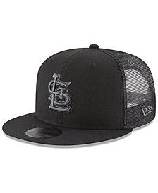 New Era St. Louis Cardinals Blackout Mesh 9FIFTY Snapback Cap