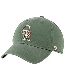 '47 Brand Colorado Rockies Moss Pink CLEAN UP Cap