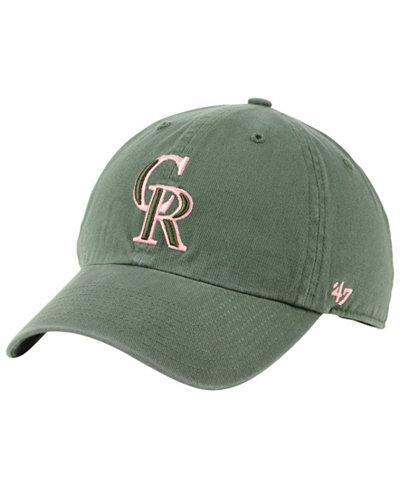 '47 Brand Colorado Rockies Moss Pink CLEAN UP Cap
