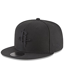 Houston Rockets Blackout 59FIFTY Fitted Cap