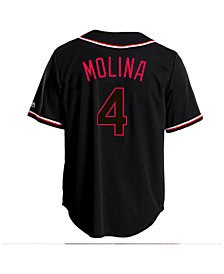 Majestic Men's Yadier Molina St. Louis Cardinals Pitch Black Jersey