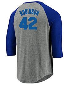 Majestic Men's Jackie Robinson Brooklyn Dodgers So Much Extra Player Raglan T-Shirt