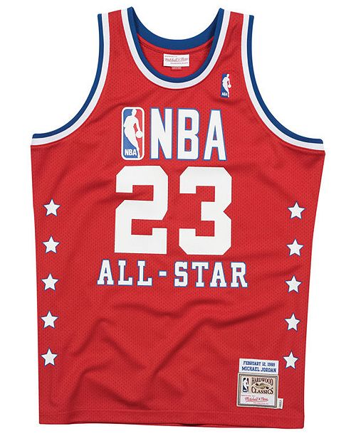 new concept b110a 8723c Men's Michael Jordan NBA All Star 1989 Authentic Jersey