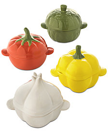 Martha Stewart Collection Set of 4 Vegetable Cocottes, Created for Macy's
