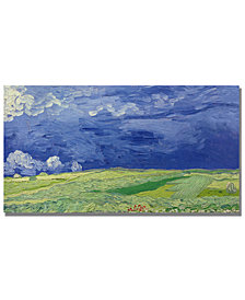 "Vincent Van Gogh 'Wheatfields under Thunderclouds' 24"" x 47"" Canvas Art Print"