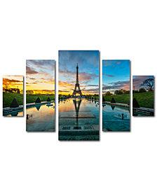 Mathieu Rivrin 'Sunrise in Paris' Multi-Panel 5-Pc. Art Set