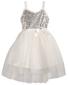 Pink & Violet Little Girls Sequin Ballerina Dress