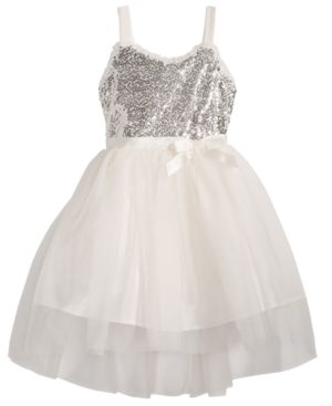 Pink & Violet Little Girls Sequin Ballerina Dress 6016976
