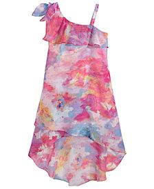 Sequin Hearts Big Girls Printed One-Shoulder Dress