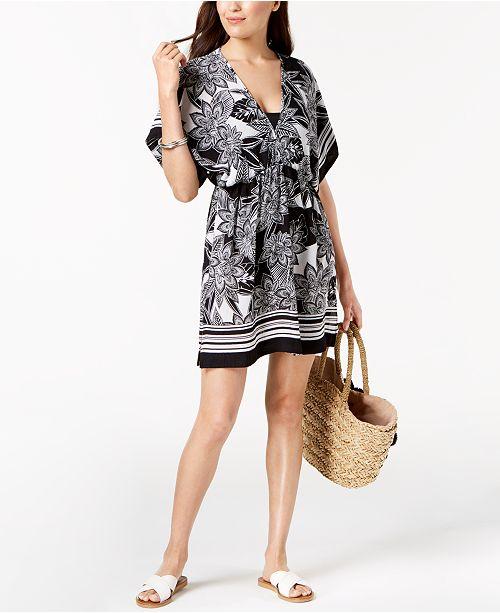 c50aa68523ec9 Lauren Ralph Lauren Printed Tunic Cover-Up & Reviews - Swimwear ...
