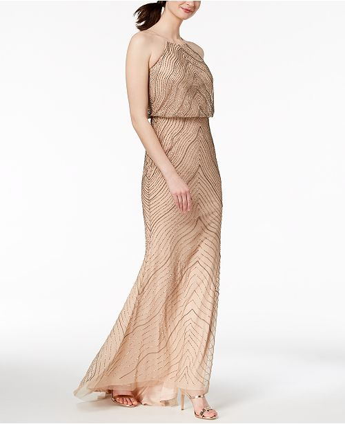 33c493230d6b Adrianna Papell Beaded Blouson Gown  Adrianna Papell Beaded Blouson Gown ...