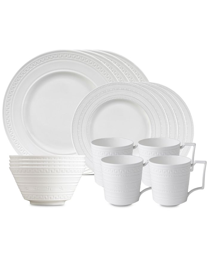 Wedgwood - Intaglio 16-Pc. Dinnerware Set, Service for 4